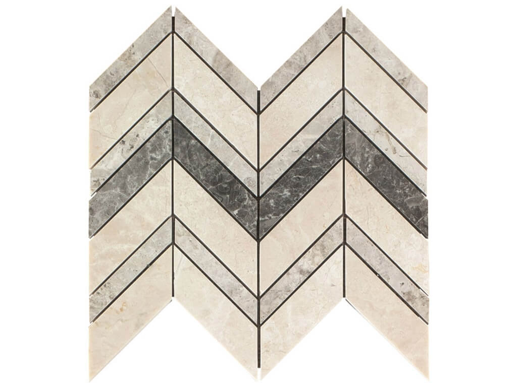 Pattern Mixed Chevron Mosaic - Polished
