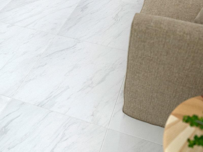 Carrara White Rectified Polished Porcelain