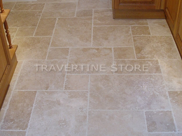 Premium Ivory Travertine - Brushed & Unfilled Chipped Edge