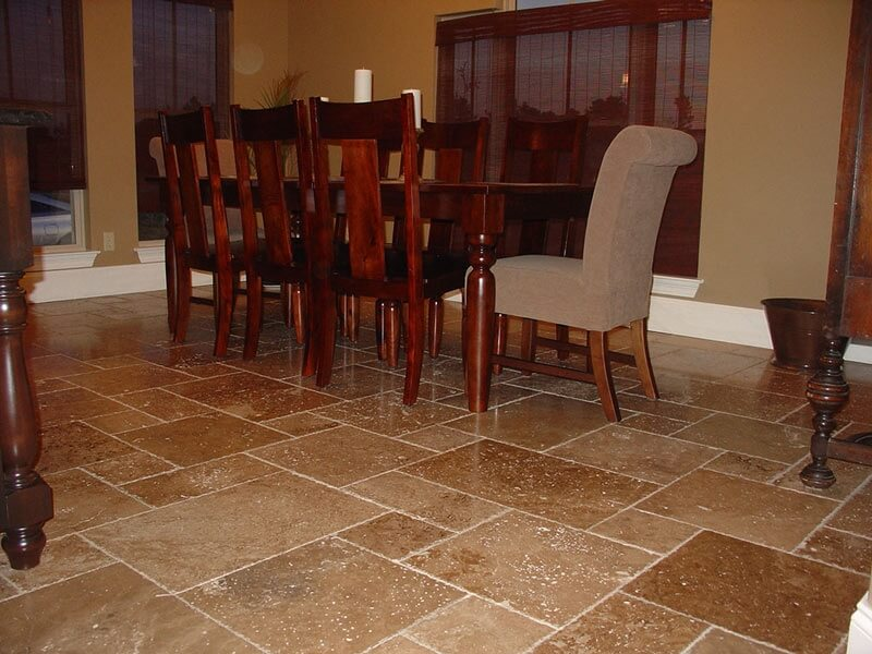 Walnut Travertine - Unfilled & Brushed Chipped Edge