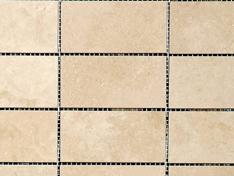 Ivory Travertine Mosaic - Honed & Filled