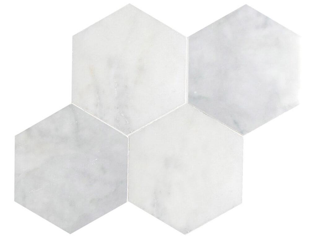 Carrara White Marble Hexagon - Polished
