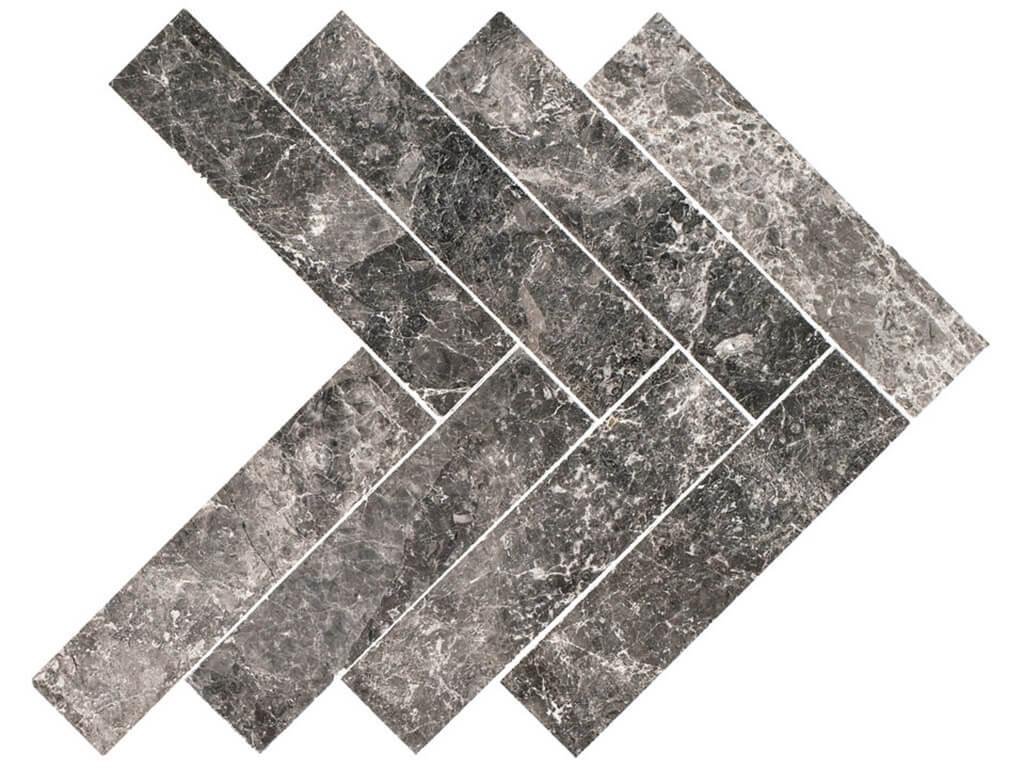 Silver Tundra Herringbone Marble - Polished