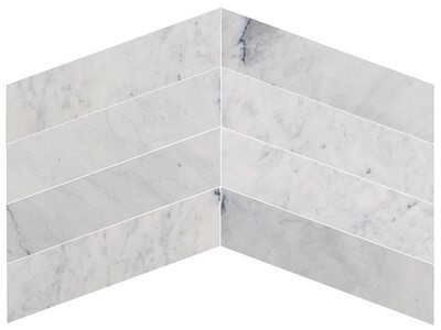 Carrara White Chevron Marble - Polished