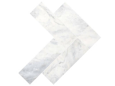 Carrara White Marble Herringbone - Polished