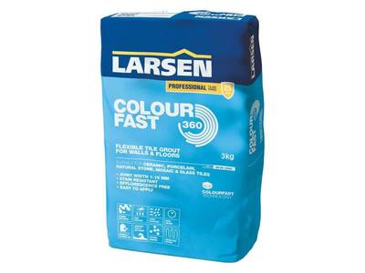 Larsen Colour Fast Flexible Tile Grout