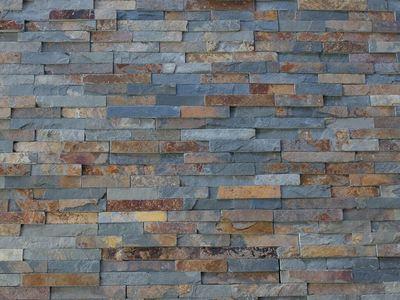 Rust Multicolour Slate Cladding - Riven