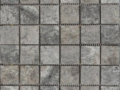 Silver Travertine Tumbled Mosaic