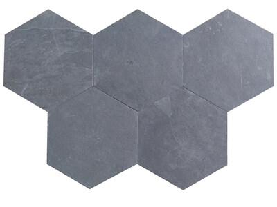 Brazilian Black Calibrated Slate Hexagon - Riven