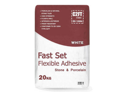 Flexible Rapid Set Stone & Porcelain Adhesive - White