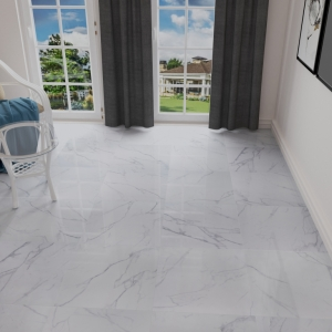 Carrara White Rectified Polished Porcelain